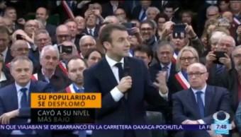 Macron recupera popularidad con debilitamiento de chalecos amarillos