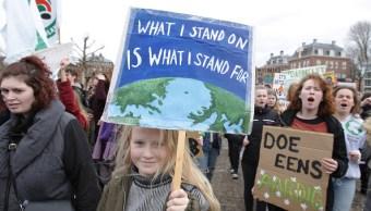 Foto: Miles de estudiantes se manifestaron en Ámsterdam para exigir una mejor política contra el cambio climático, 14 marzo 2019