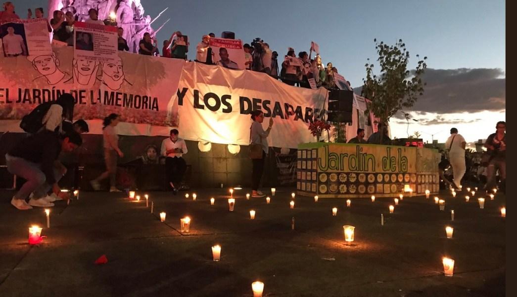 Foto: Manifestación por desaparición de estudiantes de cine, 19 de marzo 2019. Twitter @ClickMKT2016