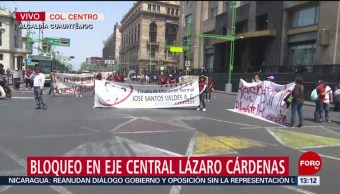 Foto: Manifestantes bloquean Eje Central Lázaro Cárdenas