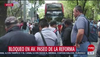 Foto: Manifestantes bloquean Paseo de la Reforma para exigir mejoras laborales