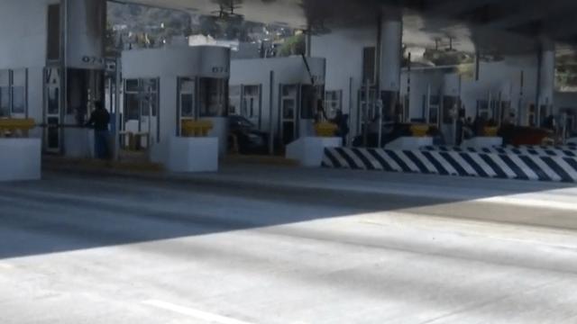 FOTO Manifestantes toman caseta Tlalpan en la autopista México-Cuernavaca FOROtv 9 marzo 2019 cdmx