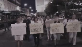 Marchan y piden justicia para víctimas de 'mataviejitas' en Colima