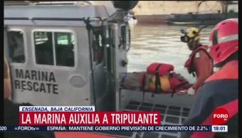 Foto: Marina auxilia a tripulante en Baja California