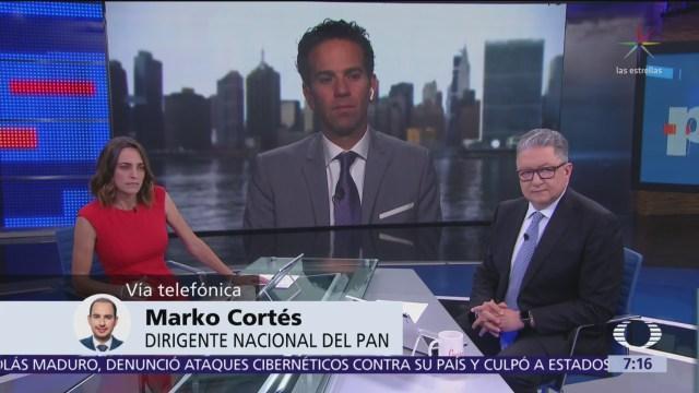 Marko Cortés evalúa cien días de AMLO como presidente