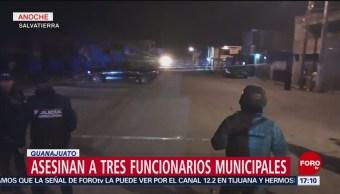 Foto: Matan a funcionarios municipales en Salvatierra, Guanajuato