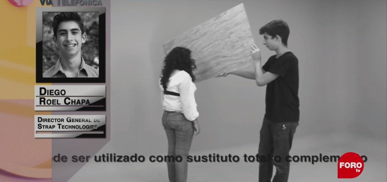 FOTO: Mexicano de 17 años desarrolla un sustituto al bastón para personas ciegas, 2 marzo 2019