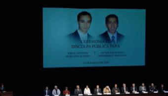 FORO Estado mexicano ofrece disculpa por homicidio de estudiantes a manos de soldados (FOROtv 19 marzo 2019 monterrey)