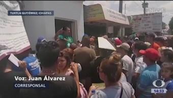 Foto: Migrantes, inconformes por cierre de instalaciones del INM en Chiapas