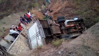 Foto: Migrantes muertos tras volcadura en Chiapas, 8 de marzo 2019. EFE