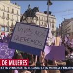 Foto: Miles de mujeres trabajadoras se declararon en huelga en España