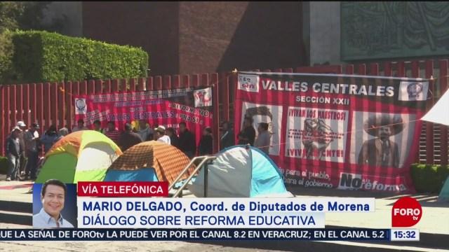 Foto: Morena mantiene diálogo con el magisterio, señala Mario Delgado