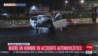 FOTO:Muere automovilista en Ermita Iztapalapa al impactarse con un camión, 23 Marzo 2019