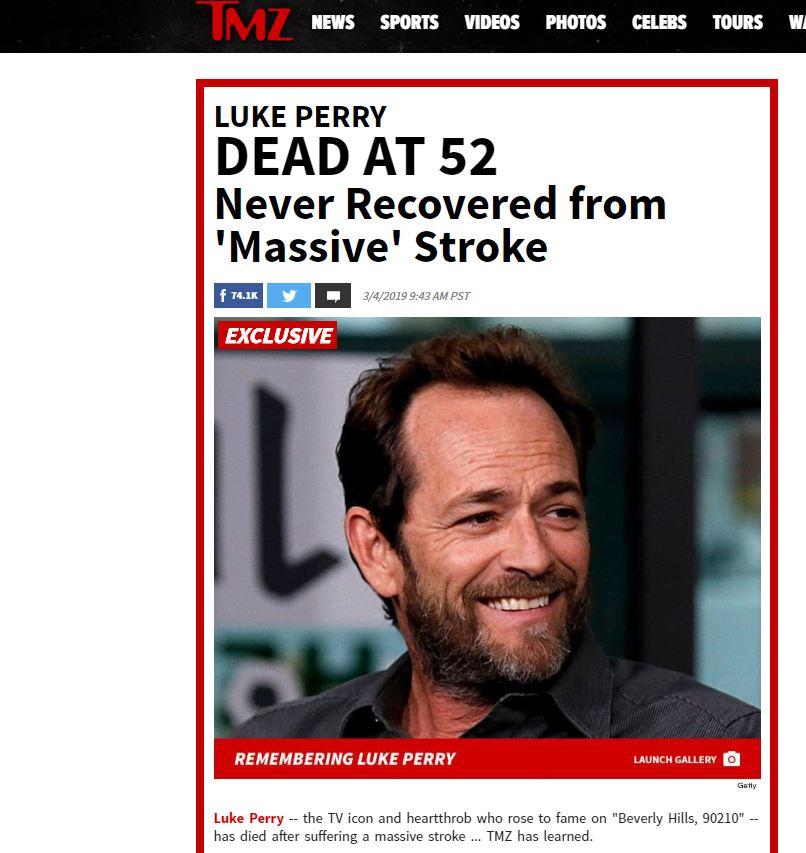 Foto: Muere el actor Luke Perry, de Beverly Hills 90210 4 marzo 2019