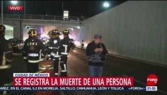 FOTO: Muere una persona tras saltar a desnivel en Río Churubusco y Tlalpan, 10 marzo 2019