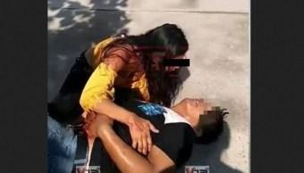 Foto: Mujer apuñala a pareja en hotel de Iguala, 10 marzo 2019. Redes sociales