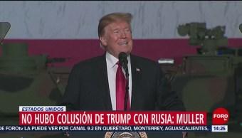 FOTO:No hubo colusión de Trump con Rusia: Muller, 24 Marzo 2019