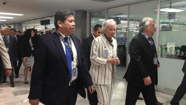 Foto: Olga Sánchez Cordero recorre el AICM, 29 de marzo de 2019, Ciudad de México