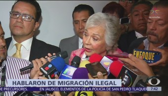 Olga Sánchez Cordero se reunió con Kirstjen Nielsen en Miami