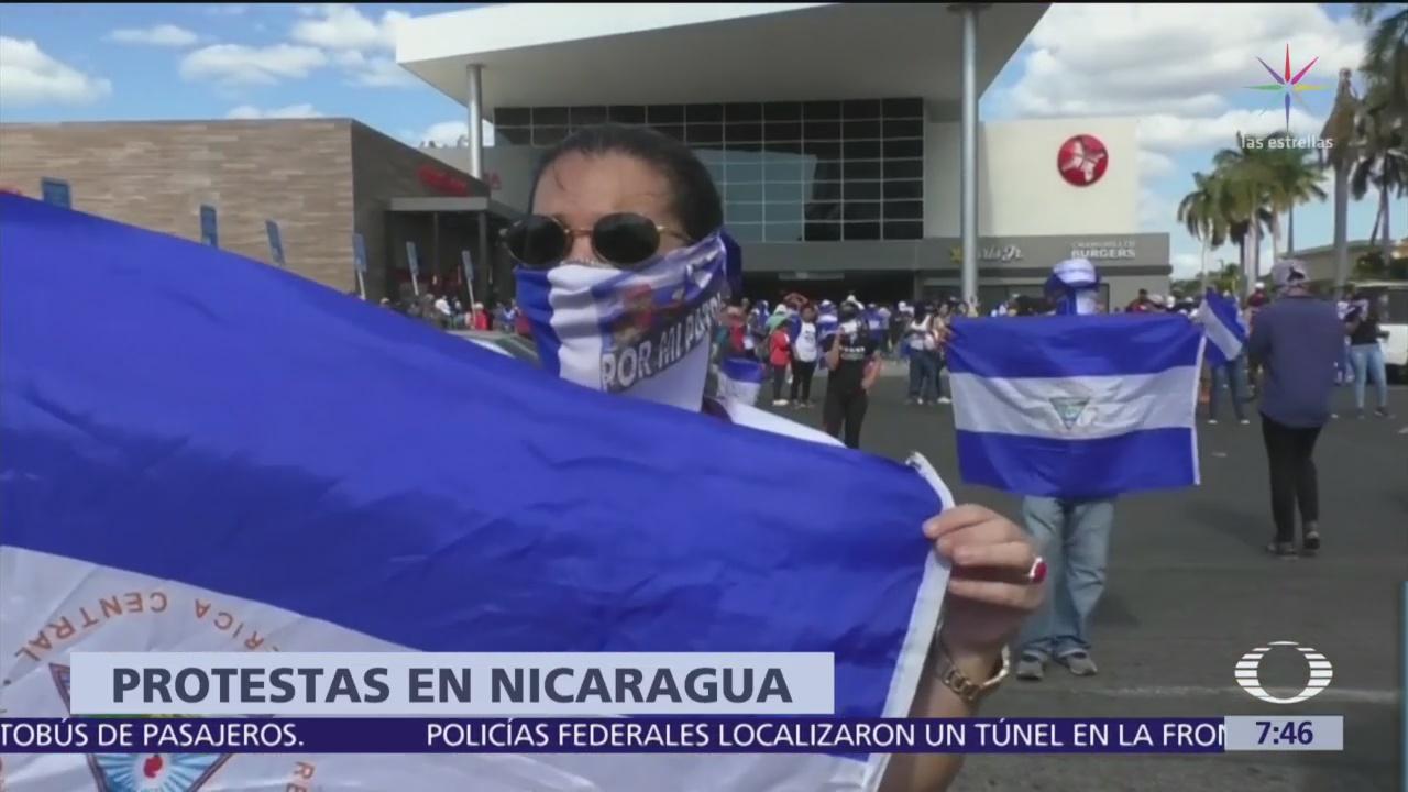 Foto: Opositores de Nicaragua marchan y exigen libertad de presos políticos