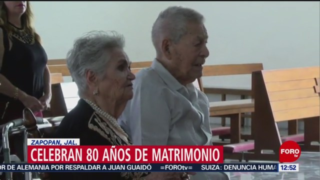 Pareja de Jalisco cumple 80 años de matrimonio