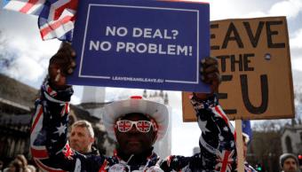 FOTO El Parlamento británico vota contra el llamado 'Brexit duro', es decir, sin acuerdo con UE (Reuters marzo 2019 londres)