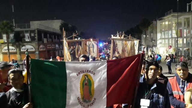 Foto:Miles de peregrinos de Tenancingo llegan a la Basílica de Guadalupe, 13 marzo 2019