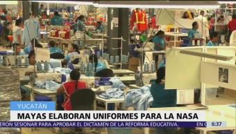 Planta textil en Yucatán elabora uniformes especiales para la NASA