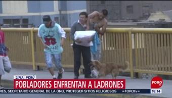 Foto: Pobladores de Lima, Perú, enfrentan a ladrones