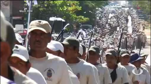 Foto: Policías Comunitarias Guerrero Alianza Guardia Nacional 21 de Marzo 2019