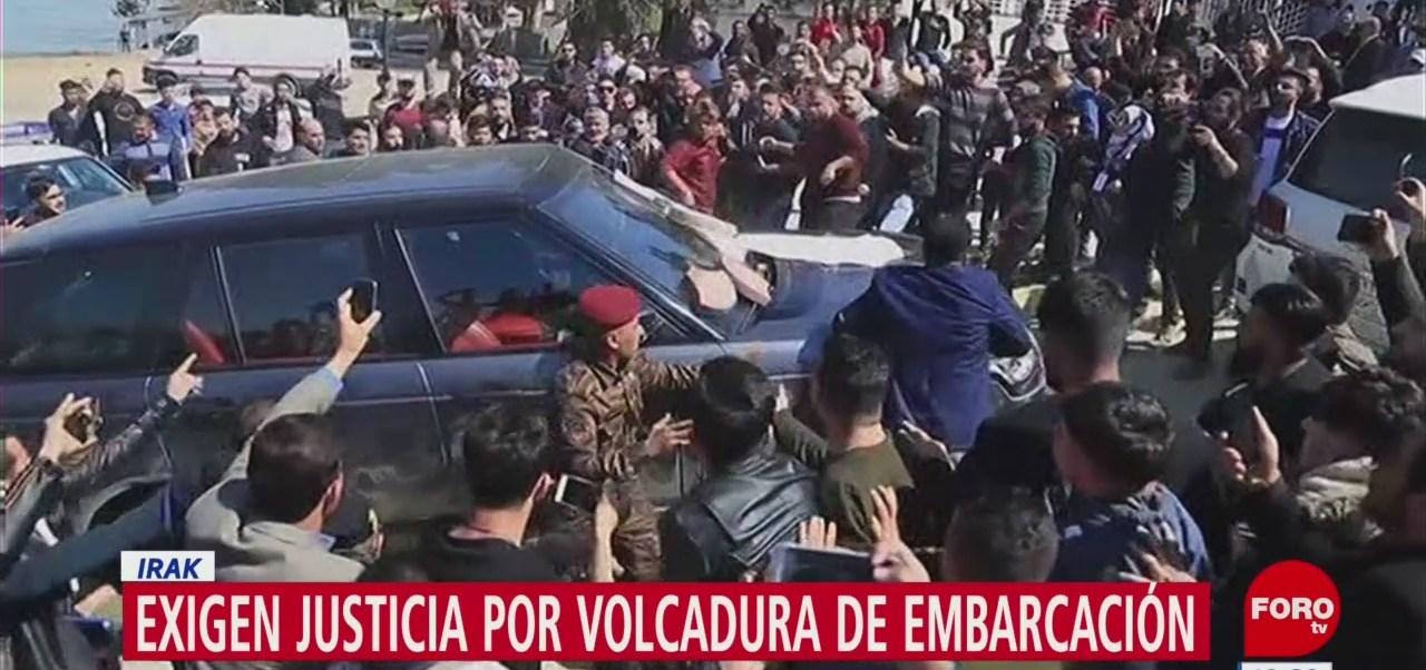 Protestan contra presidente de Irak tras naufragio