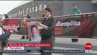 FOTO:Protestan en Chihuahua para exigir justicia en caso Miroslava Breach, 23 Marzo 2019