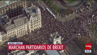 Foto: Protestas Reino Unido Brexit Gran Bretaña UE 29 de Marzo 2019
