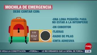 Foto: Recomiendan armar mochila de emergencia en Puebla