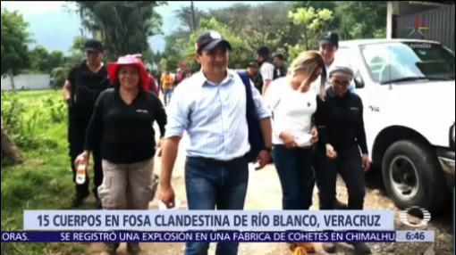 Recuperan 15 cuerpos en fosa clandestina de Veracruz