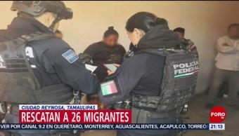FOTO: Rescatan a 26 migrantes en Ciudad Reynosa, Tamaulipas, 24 Marzo 2019