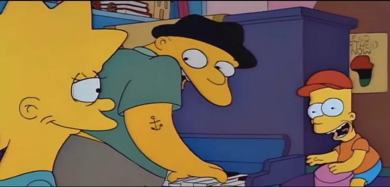 Captura de pantalla: Capítulo Stark Raving Dad de Los Simpsons