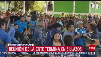 Foto: Reunión de la CNTE termina en golpes