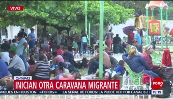FOTO:Sale nueva caravana de migrantes de Chiapas, 23 Marzo 2019