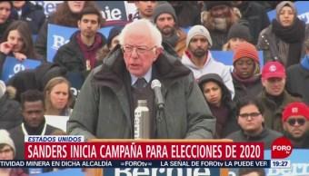 FOTO: Sanders inicia campaña para elecciones de 2020, 2 marzo 2019