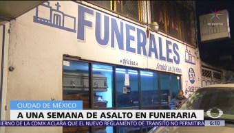 Se cumple una semana del asalto a funeraria de la CDMX
