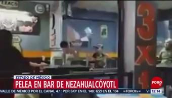 Se desata riña entre empleados y clientes de bar en Neza, Edomex