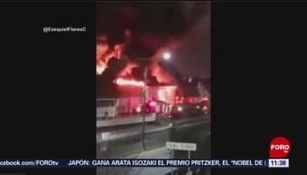 Se incendia bodega de plástico en Chilpancingo, Guerrero