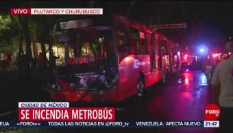 Foto: Incendio Metrobús L2 Plutarco Churubusco Cdmx 25 de Marzo 2019