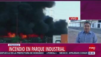 FOTO: Se registra incendio en Parque Industrial de Coahuila, 2 marzo 2019