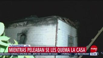 FOTO: Se registra incendio tras riña en Jalisco, 25 marzo 2019