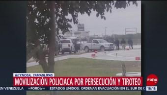 Foto: Se registra movilización policiaca por persecución y tiroteo en Reynosa, Tamaulipas