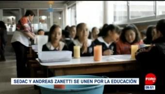 Sedac y Andreas Zanetti se unen por la educación