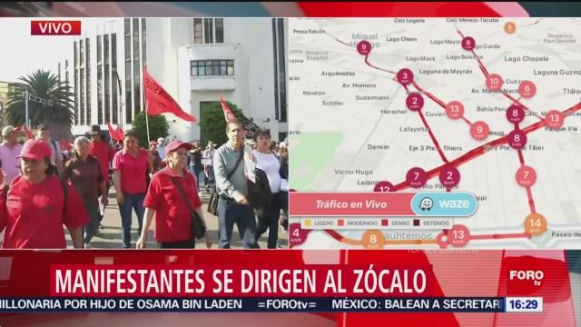 Foto: indicato de la UAM marchan hacia el Zócalo