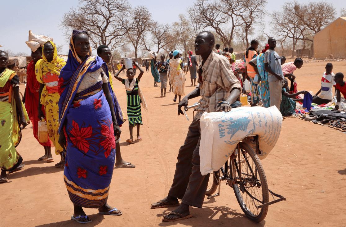 Foto: Personas en Sudán del Sur, 20 de febrero de 2018